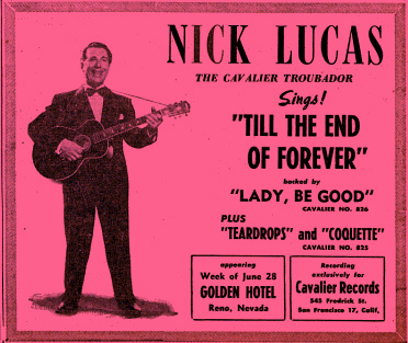 Nick Lucas the Cavalier Troubadour