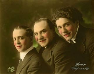 Three Vagrants - Angelo Mignella, John Bergamasco and Frank Lucanese - 1916 - Photo courtesy of Richard Harris